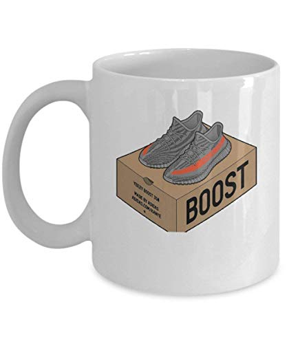 Yeezy Boost 350 Coffee Mug Cup (White) 11oz Funny Kanye West Yeezy Boost 350 Adidas Gift Merchandise Decal Shirt Sticker Accessories Decor Pin Poster