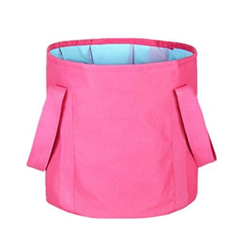 WGDPMGMZ usammenklappbareFußbadewanne Faltbare Fußboden Tragbare Badebeutel Wäsche Waschbecken Wassereimer Große Kapazität Bad Füße SPA Massage Waschanlage Für Außenreisen (Color : Rose red)
