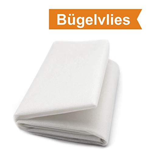 ZADAWERK® Bügelvlies - 40+18 - Weiß - 90 x 100 cm - einseitig Stoffe zum nähen