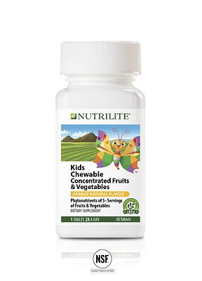 Amway Nutrilite Kids Chewable Concentrated Fruits & Vegetables - 60N Tablets