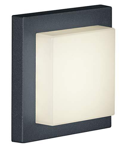 Trio Leuchten LED-Aussen-Wandleuchte Hondo in Aluminiumguss anthrazit, PVC-Schirm weiß 228960142