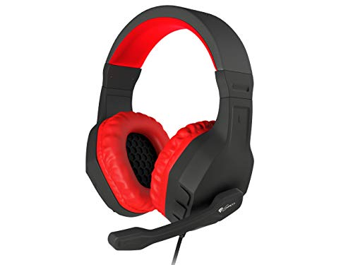 Hoofdtelefoon met microfoon Genessis Argon 200 Gaming Red Mini Jack 3,5 mm x 2