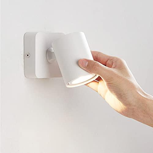 Tanktoyd Lámparas de Pared LED Plegables en 90 ° Rotación de 350 ° 6W Luces Suaves Luz de Lectura Aplique de Pared Ahorro de energía Adecuado para Varias escenas Linterna de Pared Simple y Moderna