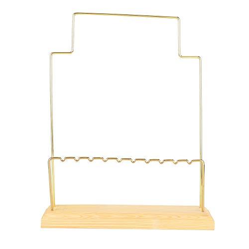 OIHODFHB Metal pino pendiente pendientes pendientes exhibición titular de la joyería accesorio exhibición estante (04)