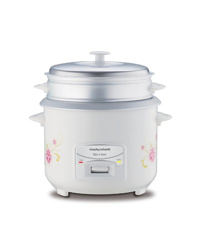 Morphy Richards Rice N More 1.8-Litre 700-Watt Electric Rice Cooker (Floral Design and White)
