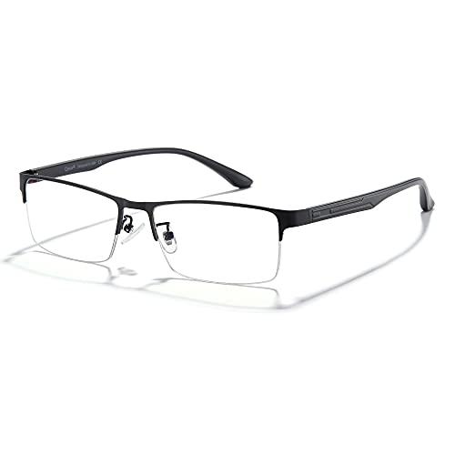 Cyxus Blue Light Blocking Computer Glasses for Men Semi Rim Glasses Crystal Lens UV Blocking Gaming Eyeglasses