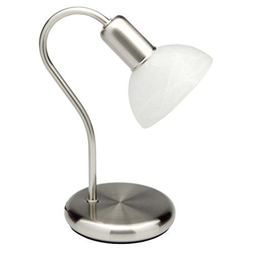 Brilliant Pearl Tischleuchte, 1x E14 max. 40 W, Metall/Glas, eisen/weiß-alabaster 67347/75