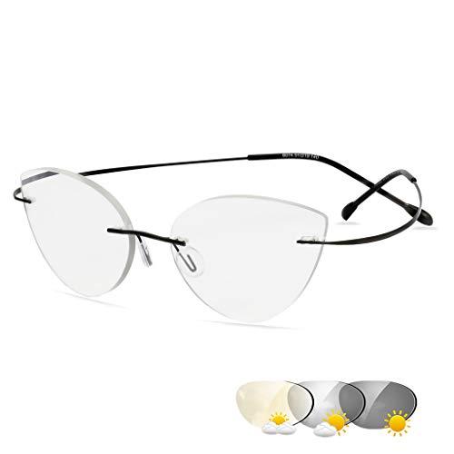 ZYFA Lesebrille Unisex,Selbsttönende Lesebrille mit UV-Schutz,Brille mit Tönung,Lesehilfe Sehhilfe Damen Herren