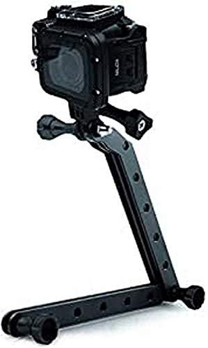 Nilox Braccio Snodato Universale per Action Cam da Selfie, Nero