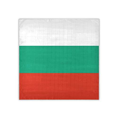 Quadratischer Damen-Schal mit Flagge Bulgarien, offizielles bulgarisches Design, 88,9 x 88,9 cm
