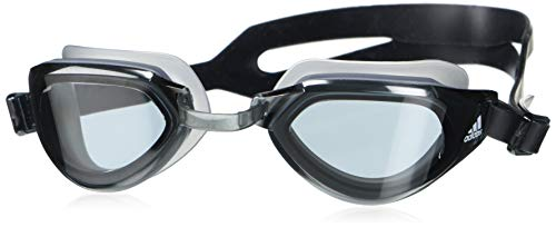 adidas unisex-adult Persistar Fit Unmirrored Goggles Smoke Lenses/Black/White Small