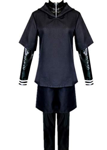 Tokyo Ghoul Kaneki Ken Clothes Zipper mask Battle Suit (Men,L)