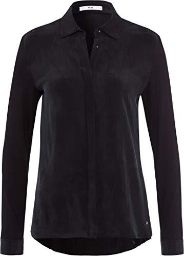 BRAX Damen Style Victoria Hemdkragen Bluse, Black, (Herstellergröße: 42)