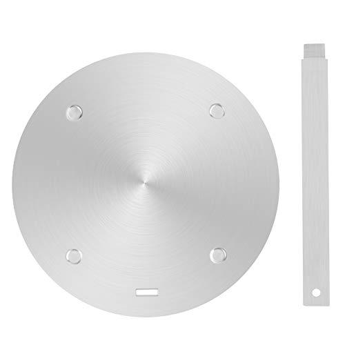 UNISOPH Placa de difusión del calor placa de difusión del adaptador de inducción del calor de acero inoxidable para cocinas eléctricas EA Gas (24 cm)