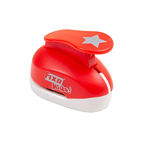 Fixo Kids 64151. Perforadora Especial Goma EVA con Forma de Estrella. 3,8cm. Tamaño grande, Rojo