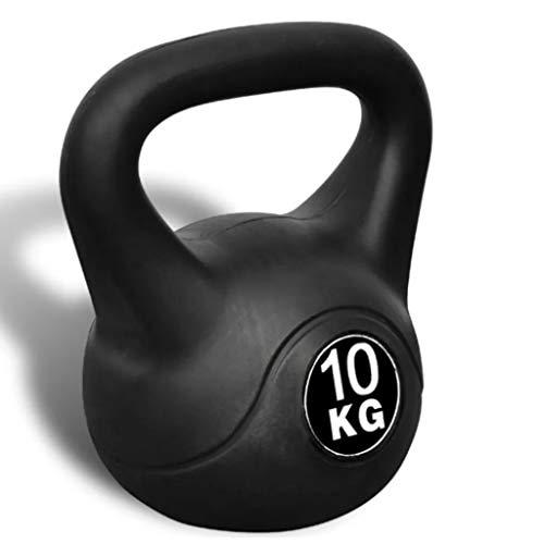 Cikonielf Kettlebell 10 kg, Kettlebell con rivestimento in plastica per trainamento dei muscoli