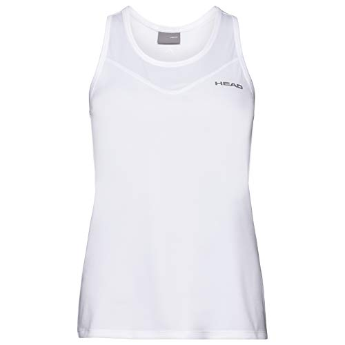 Head Camiseta sin Mangas Easy Court para Mujer, Mujer, Camiseta de Tirantes Anchos, 814560whxl, Blanco, XL