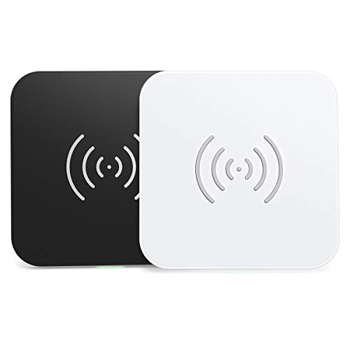 CHOETECH Caricatore Wireless 2 Pack, 10W Fast Wireless Charger per Galaxy S20/S10/ S10+/ S9/ S8/ Note 10, 7.5W Ricarica Wireless per iPhone SE 2/11/XS/XR/X/ 8/8 Plus, 5W Airpods 2/Xiaomi 9/ P30 Pro