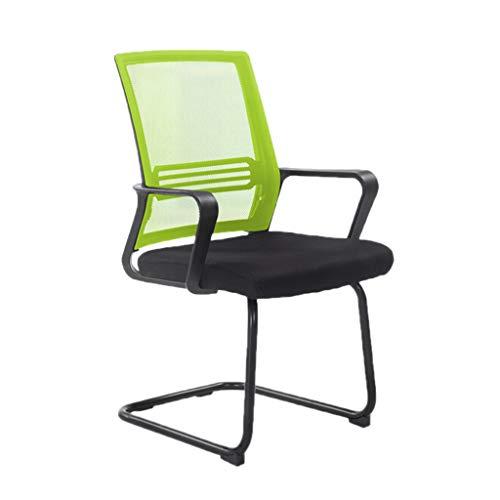 Chaise de réception, chaise de banque, chaise d'hôtel, chaise, chaise d'hôpital, chaise respirante, confortable et durable, vert, gris, noir, chaise (Couleur : Green)