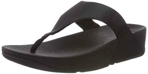 FitFlop Lulu Shimmerlux Flip Flops Women Black - 9.5 - Flip Flops Shoes
