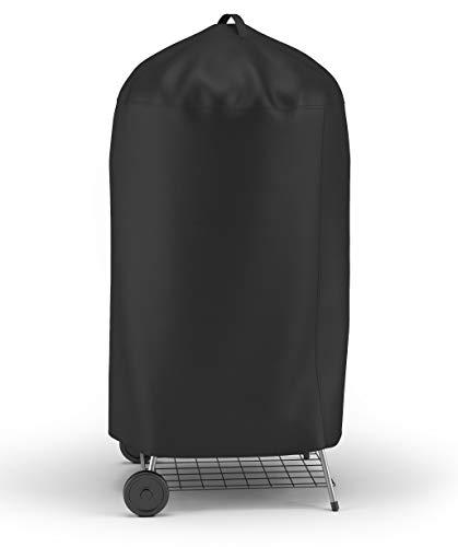 Springreen Premium Schutzhülle für Kugelgrills - Universelle und extra langlebige Abdeckung für Kugelgrill - Anthrazit Plane schützt vor Regen, Wind, Schnee, UV-Strahlung u.v.m.