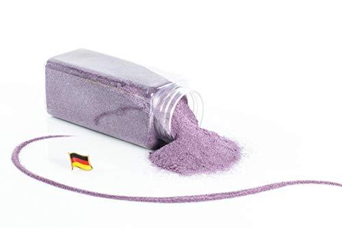 INNA-Glas Perles de Sable décoratives Sammy, Flottant, Violet Brillant, 0,2-0,5mm, Bouteille de 605ml, fabriqué en Allemagne - Gravier décoratif