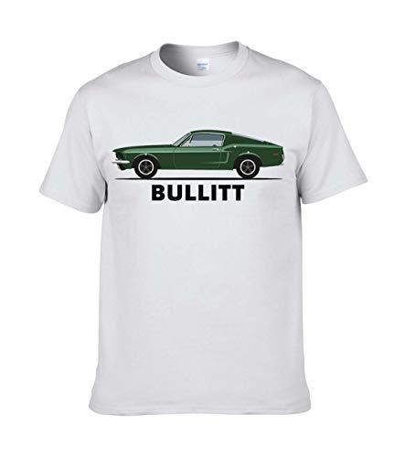 AILIBOTE Bullitt T-Shirt für Herren Gr. M, weiß
