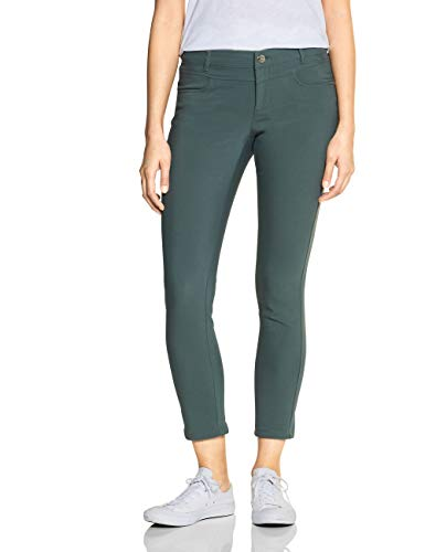 STREET ONE Damen Yulius Casual Fit Hose, Dark Thyme, W38/L30