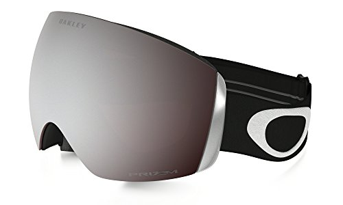 Oakley Erwachsene Snowboardbrille Flight Deck, Prizm Black Iridium (Matte Black with white logo and black band ), One Size, OO7050-01
