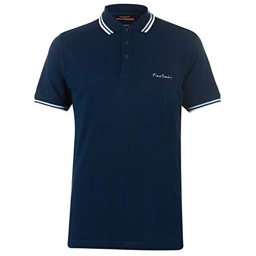 Pierre Cardin Herren Tipped Golf Polo Streifen Shirt Hemd Piquebasisch Einfach Prussian blue XXL