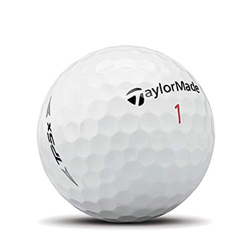 TaylorMade TP5x Golf Balls, White (One Dozen)