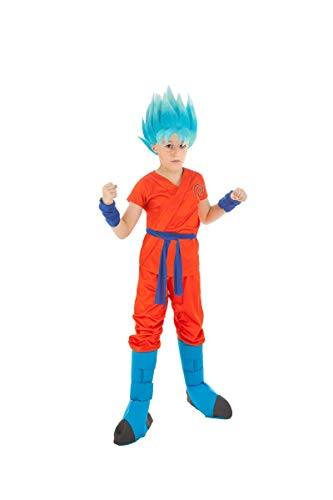 Generique - Dragonball Z-Kinderkostüm Son Goku orange-blau 152 (11-12 Jahre)