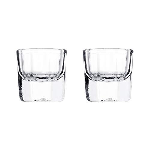 rosenice 2Pcs Manucure Verre Cristal Tasses En Verre Clair Acrylique Ongles Monomère Liquide Bol Dappen Plat Acrylique Bocal En Verre pour Acrylique Ongles (Sans Couvercle)