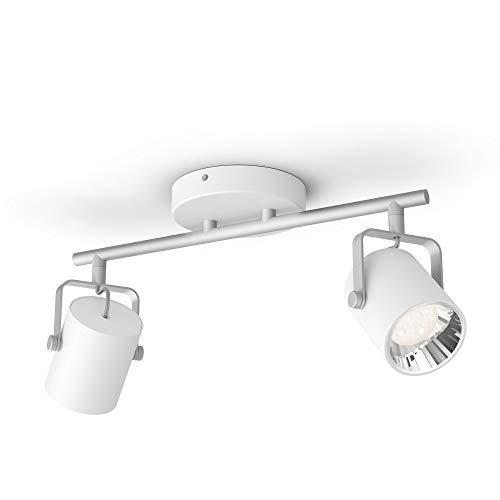 Philips myLiving 2 Byre LED SceneSwitch biały z metalu ciepła biel do neutralnego ściemniania z istniejącym włącznikiem, łatwy montaż