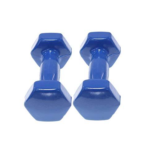 azorex Juego 2Pcs Mancuernas Pesas Antideslizantes Gimnasio Fitness Antirollo Mancuernas para Hacer Ejercicio 1-6KG Color Aleatorio (6KG)