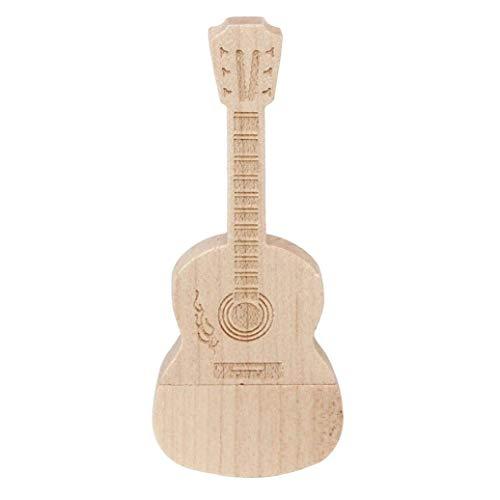 Chitarra in Legno 16 GB - Guitar Wood - Chiavetta Pendrive - Memoria Archiviazione dei Dati - USB Flash Pen Drive Memory Stick - Marrone
