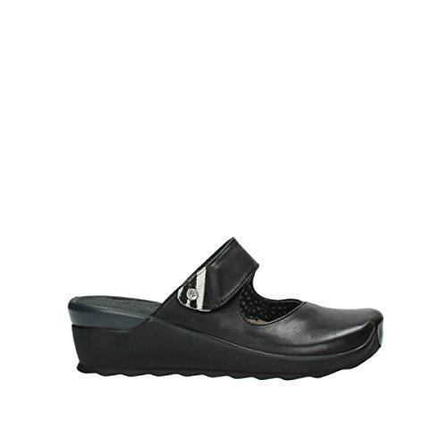 Wolky Comfort Clogs Up - 20000 Schwarz Leder - 41