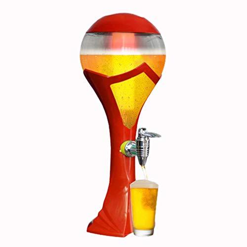 WXX Distributori Fusti Birra Il Centro Ghiaccio D'ardore Variopinto del Cannone del Vino Coppa Mondo Distributore Birra con Camera Ghiaccio Rimovibile per Festa Casa Beer Festival,Rosso