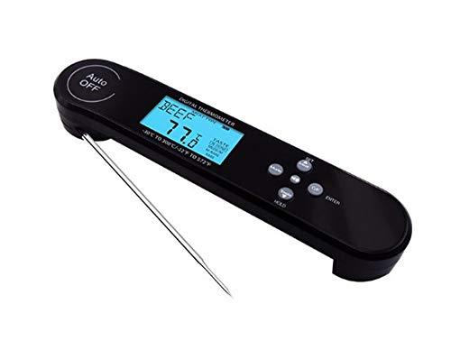 IKOWT Backlit Direct Lezen Digitaal vlees Thermometer Waterdichte Voice Herinnering Instant Pot Intelligente Stabilisatie Waarschuwing BBQ, En Grill
