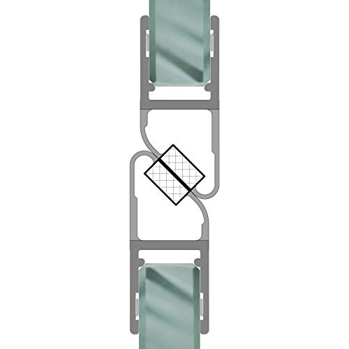Magnetdichtungen 180° Magnetprofil Steckprofil Duschdichtung Glasdusche 1 Set für Glasstärke 6-8 mm 7,49€/m