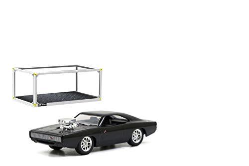 Jada Toys 253202002 Fast & Furious, 1970 Dodge Charger R/T, Build+Collect, Die-cast Bausatz, Maßstab 1:55, Sammelbox, Spielzeugauto, Sammlerauto, inkl. Schraubenzieher, schwarz