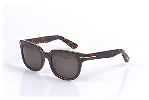 WIYP Moda Marca de Lujo Gafas de Sol polarizadas Hombres Tom Gafas de Sol para Las Mujeres Que conducen Las Gafas de Sol cuadradas con Estuche Original (Lenses Color : Brown)