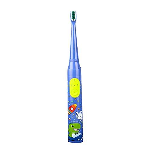 Lampara Habitacion Diente de los niños Limpio Profundo con la Cabeza de Pincel Sensible reemplazable Diversión y fácil Limpieza Smart Timer NIÑOS 3 Modos Lampara Salon (Color : Blue)