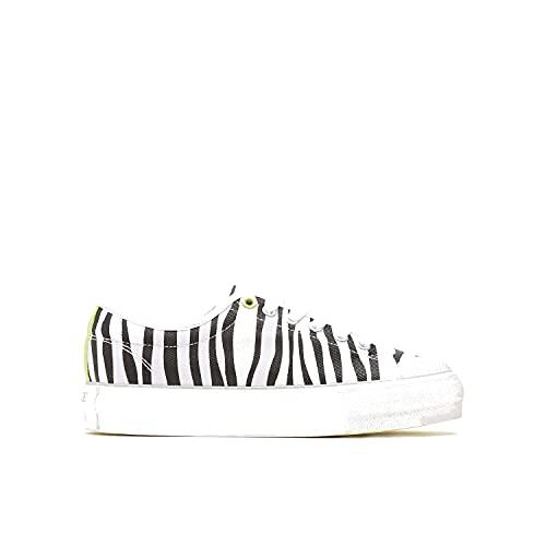 BATA Zapatillas de lona con estampado de cebra para mujer Blanco Size: 40 EU