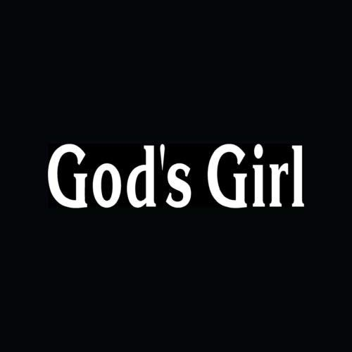 GOD'S GIRL Sticker Leuke Christian Vinyl Decal Grappige Jezus Maagd Liefde Gift Faith - Die gesneden vinyl decal voor ramen, auto's, vrachtwagens, gereedschapskisten, laptops, MacBook - vrijwel elke harde, glad oppervlak