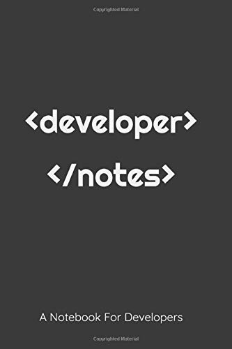 Developer Notebook: Code Notebook for Writing Meeting or Learning Note (6x9) 120 pages