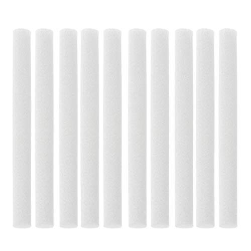 DIYARTS 10PCS Filtro De Palos De Algodón Cutable Cuchillas De Repuesto De Repuesto Resistentes A Baja Temperatura para USB Humidificador Personal Portátil 7.5 * 125 Mm