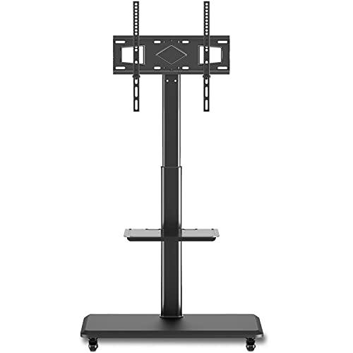 RFIVER Mobile TV Ständer auf Rollen für die meisten 32-60 Zoll LED LCD TV Plasma Fernseher TV Wagen Höhenverstellbar Drehbar Max. VESA 400x400 mm