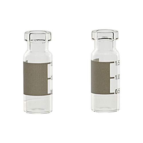 Metria CVP1-C02-100 Vial für Chromatografie, transparent mit Schreibfläche, 12 x 32 mm, 2 ml