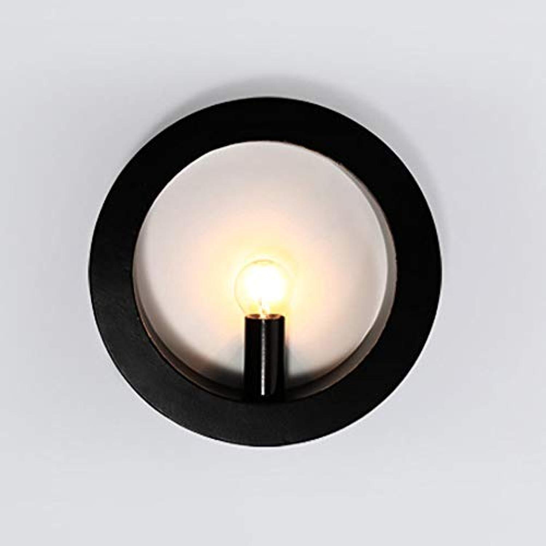 Schlafzimmer Nachttischlampe gang Flur Licht kreative retro Bügeleisen hotel Wandleuchte (Farbe  Schwarz)